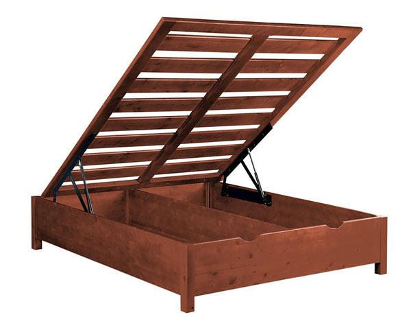 Letto Contenitore in legno massello